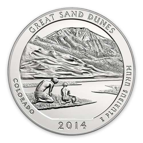 2014 5 oz Silver Silver America the Beautifu Great Sand Dunes National Park