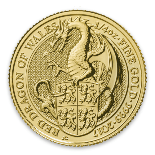 2017 1/4oz Britain Queen's Beasts: The Dragon