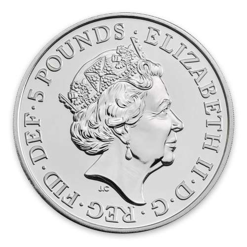 2019 2oz Britain Silver Queen's Beast: The Falcon of the Plantagenets