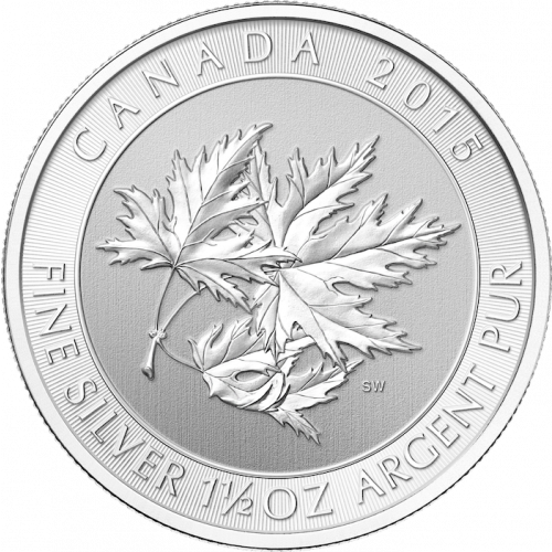 2015 1.5oz Canadian Silver Maple Leaves