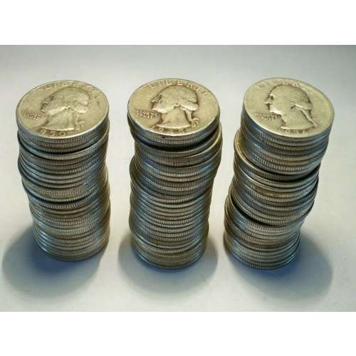 90% Silver Quarters Pre-1965 $1 Face Value