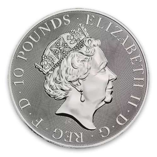 2017 10oz Britain Silver Queen's Beast : The Lion of England